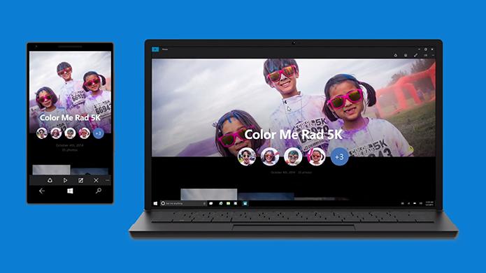 Windows 10 terá o mesmo aplicativo de fotos em celulares e computadores (Foto: Reprodução/Microsoft)