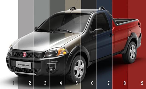 Cores Fiat Strada (Foto: Autoesporte)