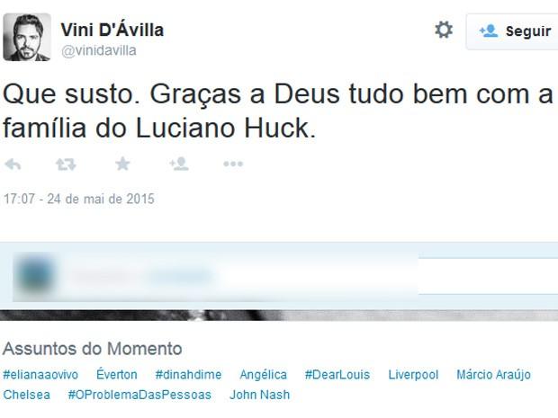 Fãs enviam mensagem de apoio para Angélica e Luciano Huck (Foto: G1)