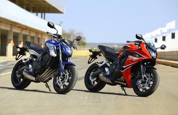 Honda CB 650F e CBR 650F (Foto: Divulgação)