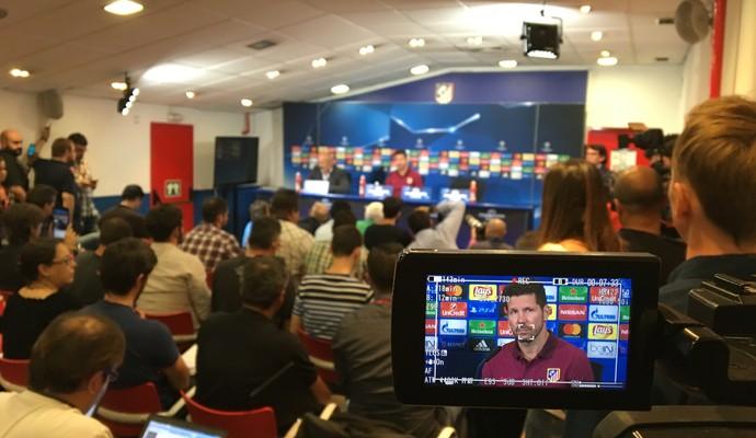 Simeone Atlético de Madrid Bayern de Munique Liga dos Campeões (Foto: Ivan Raupp)