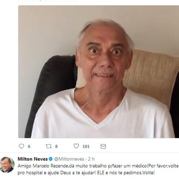 Post de Milton Neves (Foto: Reprodução/Instagram)
