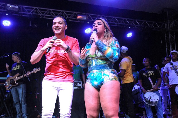 Wesley Safadão e Preta Gil em show na Zona Sul do Rio (Foto: Marcello Sá Barretto/ Ag. News)