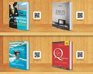 Um dos painéis do Submarino do aeroporto Santos Dumont vende livros por meio dos QR codes (Foto: Divulgação)