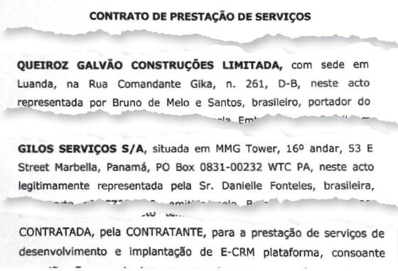 2 | Contrato entre  a Gilos, offshore  da Pepper, e a Queiroz Galvão (Foto: Reprodução)