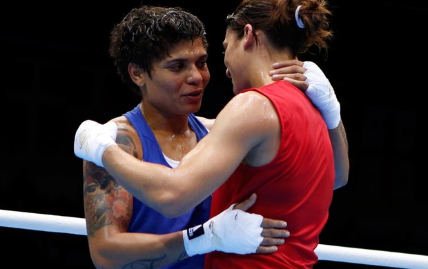 boxe Adriana Araujo brasil Mahjouba Oubtil marrocos londres 2012 (Foto: Ag&#234;ncia Reuters)