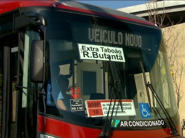 Símbolo de wi-fi vai ficar no para-brisas do ônibus (Foto: Reprodução/TV Globo)