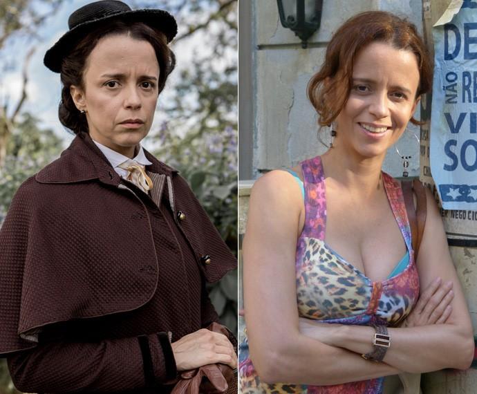 A atriz garente que Severa e Lorraine têm algumas coisas em comum (Foto: TV Globo)