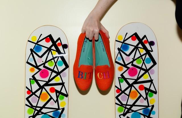 Blue Bird Shoes + irmãs Derani (Foto: Divulgação)