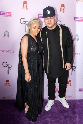 Rob Kardashian e Blac Chyna (Foto: AFP)