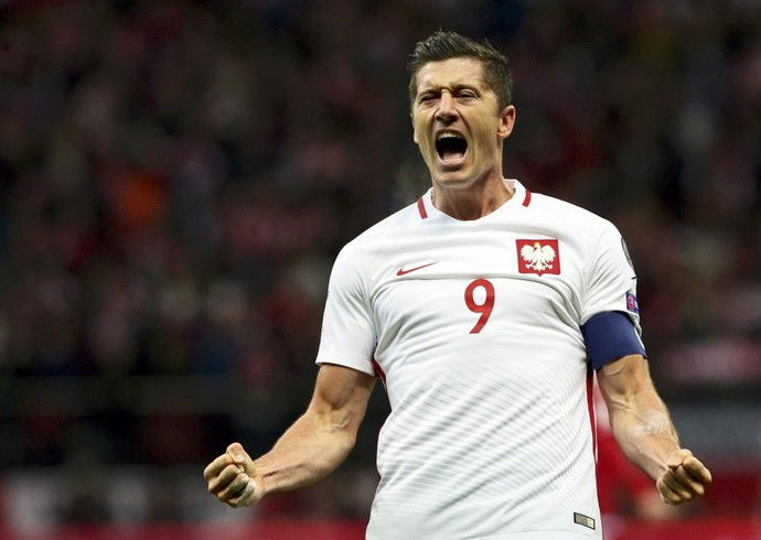 Lewandowski Polonia x DInamarca (Foto: Reuters)