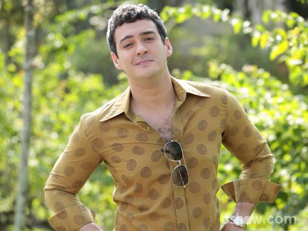 Marcos Veras interpreta versão mais jovem de Mendonça (Foto: Felipe Monteiro/TV Globo)