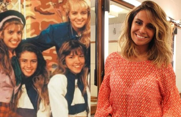 Quem também começou na TV como assistente de palco de Angélica no 'Clube da criança' foi Giovanna Antonelli. A atriz esteve no ar recentemente em 'Sol nascente' (Foto: Reprodução e TV Globo)