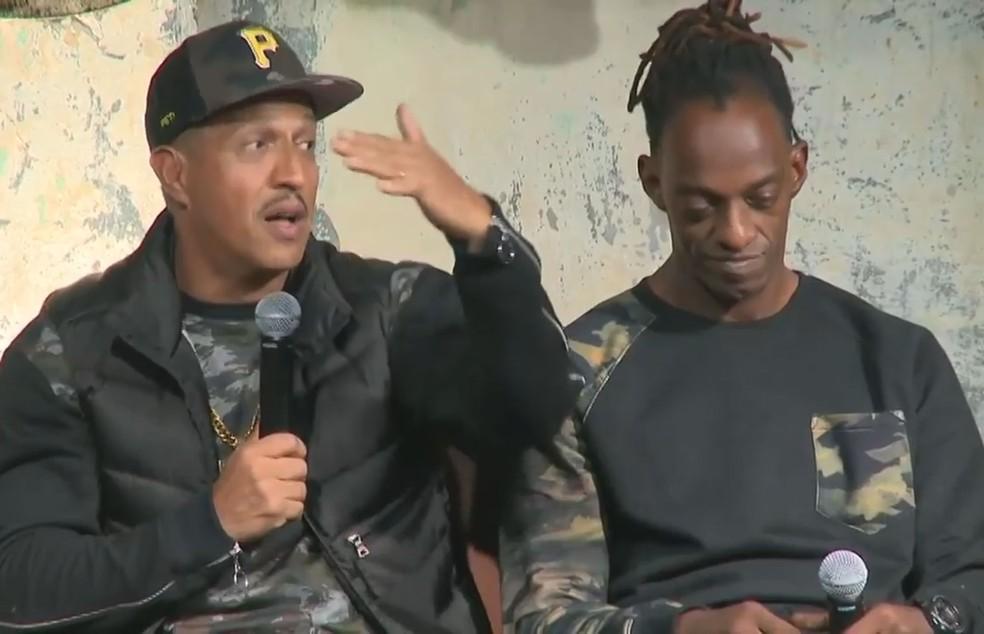 Mano Brown e Ice Blue falam sobre a trajetória dos Racionais MC's no Red Bull Music Academy (Foto: Reprodução/Facebook/Red Bull Station)