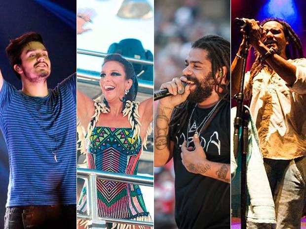 Hélio Bentes, Luan Santana e Vitin partricipam da gravação do DVD de Ivete Sangalo (Foto: Arte G1)