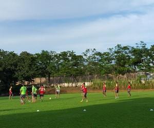 figueirense leão dourado treino são luiz (Foto: José Henrique Koltermann / Rádio Guarujá)