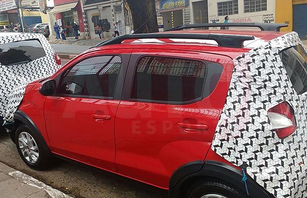 Fiat Moby Way camuflado para treinamento de concessionários (Foto: Tereza Consiglio/Autoesporte)