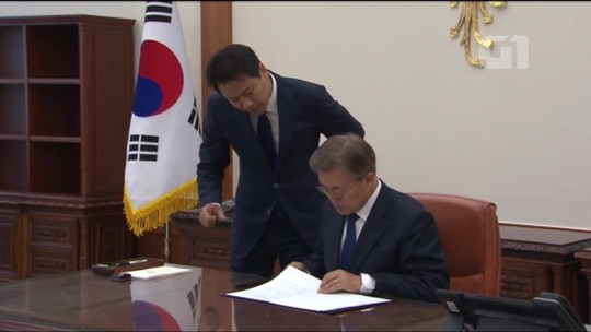 Moon inicia mandato de 5 anos como novo presidente da Coreia do Sul e promete dialogar com a Coreia do Norte