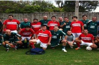 Torcedores de Goiás e Vila Nova participam de jogo amistoso (Foto: Reprodução/TV Anhanguera)