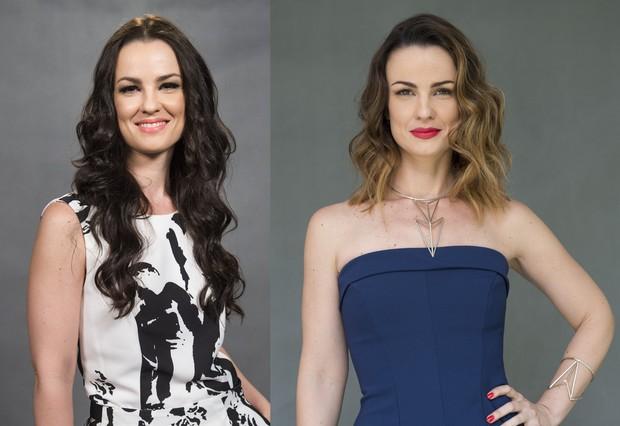 Carolina Kasting: antes e depois (Foto: Divulgação Globo)