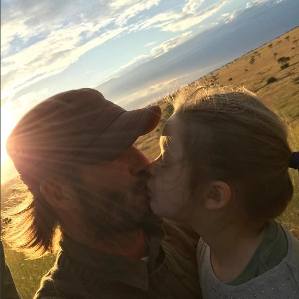 """""""Beijo para o papai"""", escreveu Beckham na legenda (Foto: Reprodução/Instagram)"""
