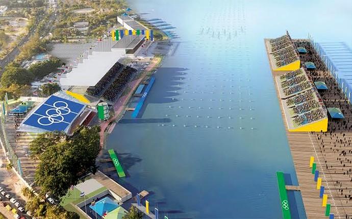 estadio de remo e canoagem lagoa rodrigo de freitas olimpíadas 2016 (Foto: Divulgação)