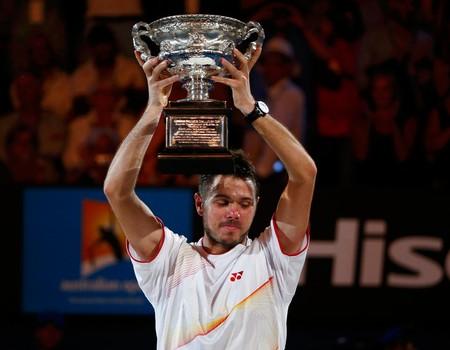 Tenis - Australian Open - Wawrinka Trofeu (Foto: Reuters)