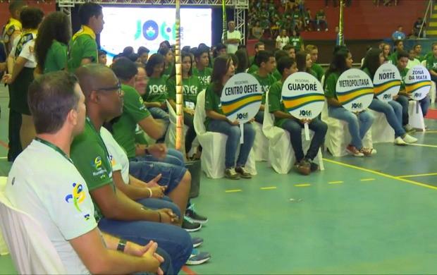 Abertura de jogos escolares é realizada em Cacoal (Foto: Globo Esporte)