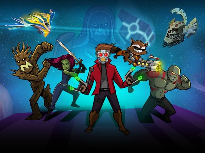 Introduzindo um pouco a história do grupo de vigilantes espaciais, Guardians of the Galaxy: The Universal Weapon é o novo game da Marvel (Foto: Divulgação/Marvel Entertainment)