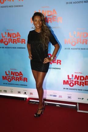 MC Ludmilla em pré-estreia de filme na Zona Sul do Rio (Foto: Felipe Assumpção/ Ag. News)