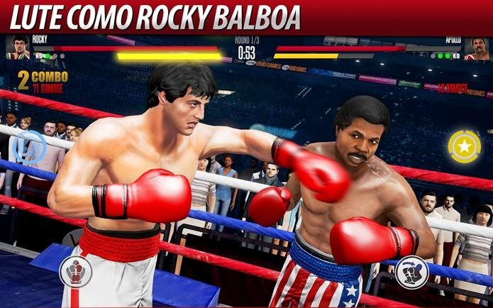 Reviva momentos marcantes dos filmes de Rocky em Real Boxing 2 (Divulgação / Vivid Games)