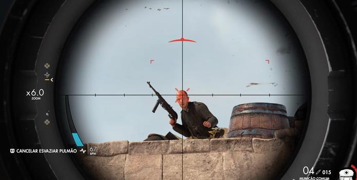 Sniper Elite 4 tem mira mais precisa (Foto: Reprodução/Diego Borges)