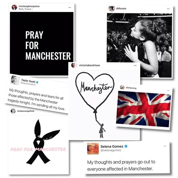 Famosos lamentam ataque em Manchester (Foto: Reprodução)
