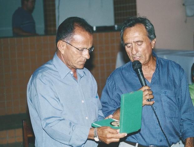 Ribamar Cavalcante e Wallace Costa jogaram juntos (Foto: Arquivo Pessoal)