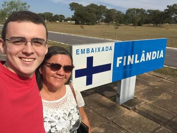 Pedro, de 18 anos, conseguiu realizar sonho de intercâmbio na Finlândia (Foto: Pedro Fernandes/Acervo Pessoal)
