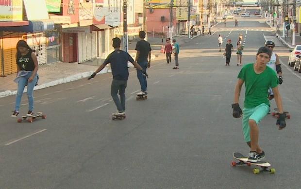 Três grupos participaram da competição que ocorreu no Centro de Macapá (Foto: Bom Dia Amazônia)