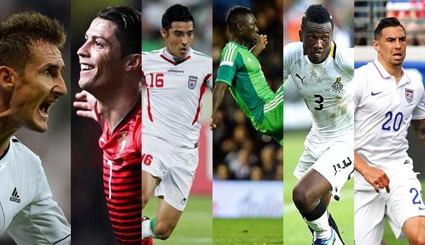 As seleções que se enfrentam na segunda, dia 16 de junho, pela Copa do Mundo (Foto: globoesporte.com)