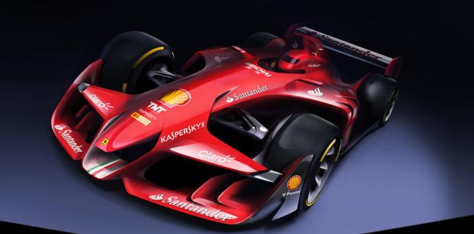 Conceito de carro da Ferrari (Foto: Reprodução)