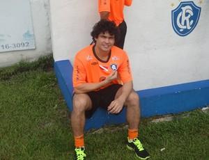 Berg se apresentou no Clube do Remo (Foto: Gustavo Pêna/GLOBOESPORTE.COM)