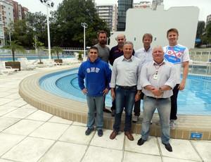 Federação Francesa de Natação visita o Grêmio (Foto: Divulgação)