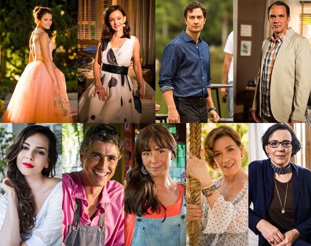 Parte do elenco de estrelas de Em Família, nova novela das nove, de Manoel Carlos, que estreia no dia 3 (Foto: Globo)