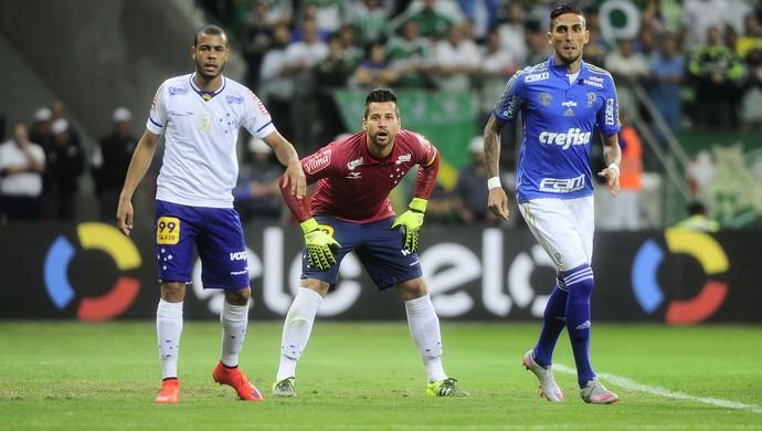 Palmeiras x Cruzeiro Mayke Fábio Rafael Marques (Foto: Marcos Ribolli)