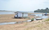 Seca no Rio Branco é considerada a maior dos últimos vinte anos (Marcelo Marques/G1)