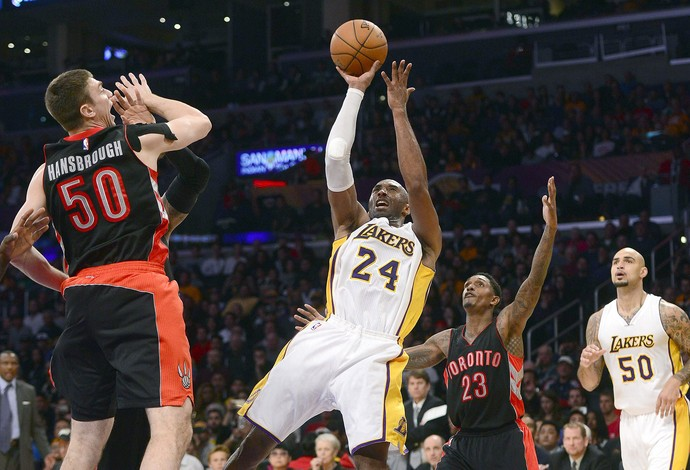 Kobe Bryant, NBA, Los Angeles Lakers x Toronto Raptors (Foto: EFE)