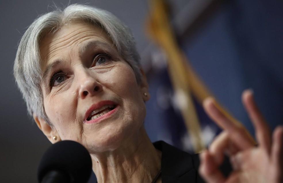 Jill Stein, candidata do Partido Verde nas eleições dos EUA, pediu recontagem de votos no estado de Wisconsin (Foto: Win McNamee/Getty Images North America/AFP)