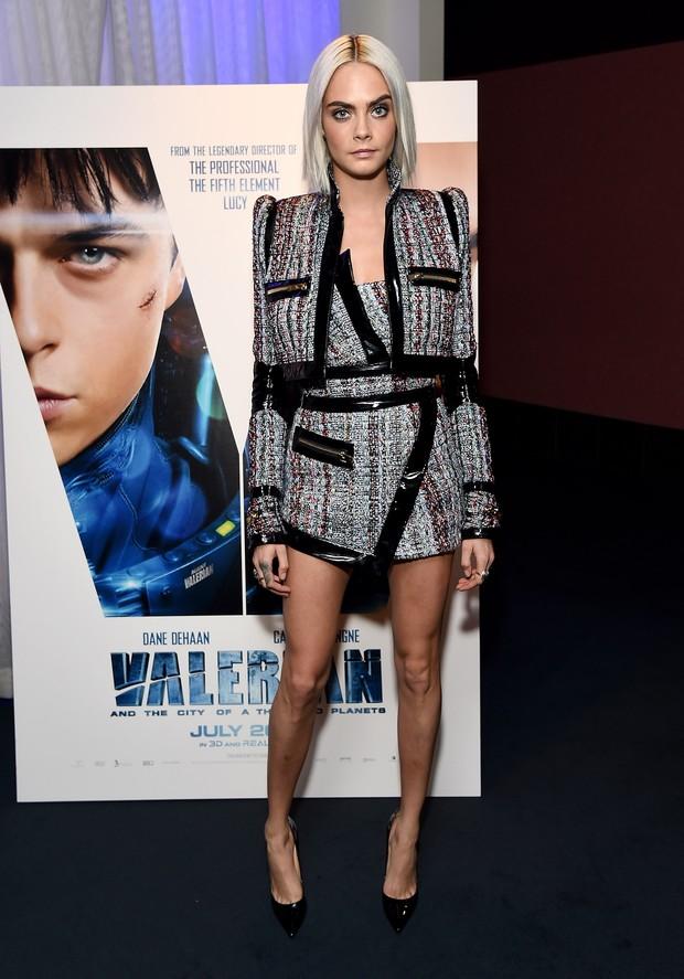 Cara Delevingne em première de filme em Los Angeles, nos Estados Unidos (Foto: Michael Kovac/ Getty Images)