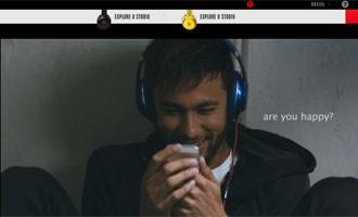 Beats escalou Neymar para campanha para a Copa (Foto: Reprodução)