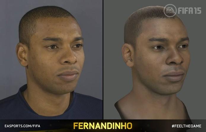 Fernandinho no processo de captura de Fifa 15 (Foto: Divulgação)