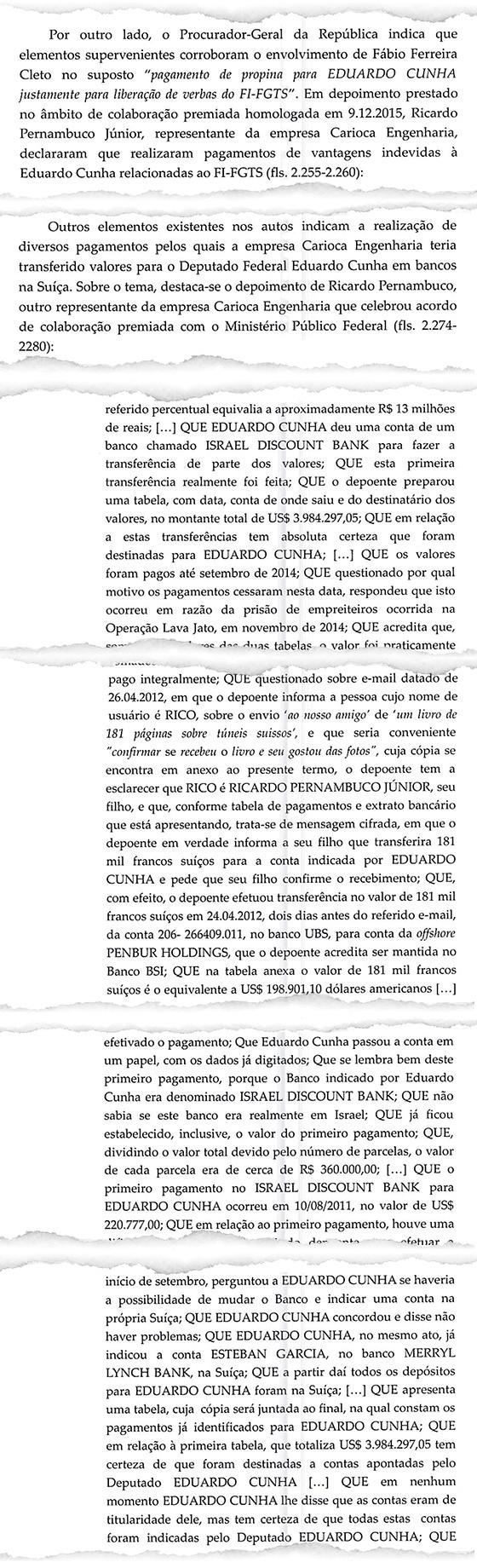 Documento obtido por ÉPOCA revela que novos delatores montaram uma rede de contas na Suíça e em Israel para pagar propina a Eduardo Cunha (Foto: Reprodução)