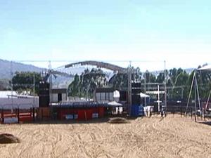 Palco expô Claúdio (Foto: Reprodução/TV Integração)